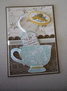 "A few more ""Tea Shoppe"" cards to share, colours used once again are from Attic Boutique DSP (my 1st pack nearly all gone), I SO love thes..."