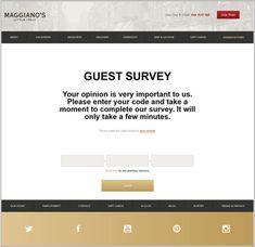 8eb65704b9ba0 Maggianos survey guide Customer Survey