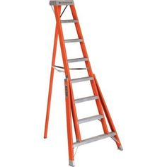 Louisville Ladder FT1008 8' Fiberglass Tripod Ladder, Type IA, 300 Lbs Rated, Multicolor