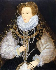 On this day, March, after 44 years of reign, Queen Elizabeth I died. (The Kitchener Portrait of Queen Elizabeth I The English and Scottish crowns were united when James VI of Scotland became James I of England. Elizabeth I, Renaissance Mode, Renaissance Fashion, Renaissance Portraits, William Turner, Historical Costume, Historical Clothing, Women's Clothing, Historical Dress