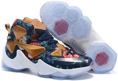 info for 32ece 986af Lebron 13 Shoes Flower Mens Basketball Sneakers, Nike Sneakers, Discount Nike  Shoes, Nike