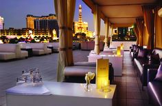 Pure Nightclub at Caesars Palace, Las Vegas.  Best view in Town on the Rooftop Deck.  Pure is 36,000 Square Feet on Three Floors with DJ's, Bars, and Dance Floors Located on Each Floor.  The Hottest Nightclub in Vegas.