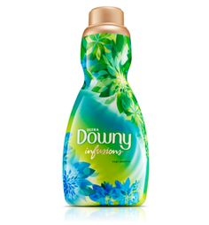 Best way to soak labels off glass! 1 cap of fabric softener and hot water in the sink! Soak the glass for about 15 minutes! I use Downy Infusions Sage Jasmine Liquid Fabric Softener