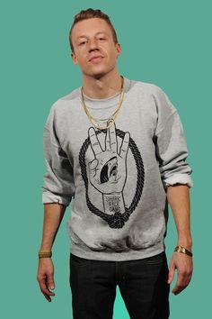 Sharkfacegang Crewneck Sweatshirt    ooooooh macklemore...    *swoon*