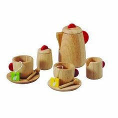 Plan Toy Tea Set.  Way too cute!