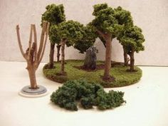 Reaper Miniatures :: TheCraft. How-to on making miniature trees for terrariums.