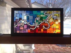 Abstract oasis window