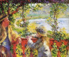 """A la orilla del lago"" (1880), Pierre-August Renoir (Francia) - Impresionismo"
