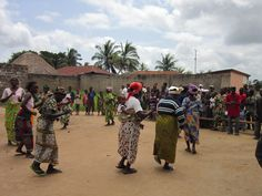 Dancing in Togo, West Africa