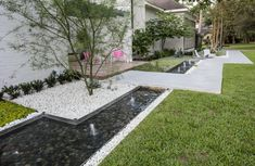 Curb Appeal | 2021 | HGTV Front Entrances, We Fall In Love, Love At First Sight, Geometric Art, Hgtv, Midcentury Modern, Curb Appeal, Koi, Sidewalk