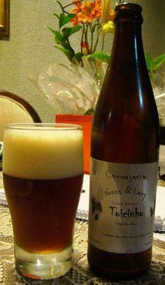 Cerveja Nunes & Levy Toicinho, estilo Rauchbier, produzida por  Cervejaria Caseira, Brasil. 5.7% ABV de álcool.
