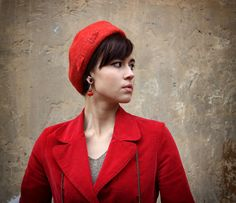 """16 gorgeous finds! """"Red Hat And Art"""" by Janet Mealha on Etsy. Click to see them all."""