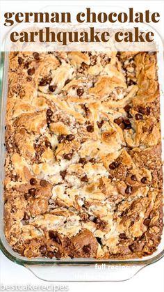 Chocolate Cake Mix Recipes, Cake Mix Desserts, Easy Desserts, Delicious Desserts, Dessert Recipes, Yummy Food, German Chocolate Cake Mix, Best Chocolate Desserts, Earthquake Cake Recipes