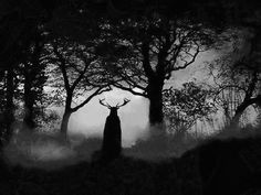 A horned god of the woods
