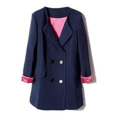 Coats - Double-breasted Lapel Dark-blue Coat #Pariscoming #Paris #fallfashion #fallstyle #falltrends #fallingfor #fall #winterfashion #winterstyle #wintertrends #winterfor #winter #cardi #clothing #inspirational #fashionable #ontrend #stylist #Styling #StreetStyleSeason #streetstyle #fashionblog #fashiondiaries #fashiondiary #WearIt #WhatYouWear If you like,follow me back and find it on our online store.