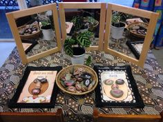 Exploring faces & emotions with stones (Fingadingadoo) Reggio Inspired Classrooms, Reggio Classroom, Preschool Classroom, Preschool Activities, Preschool Education, Indoor Activities, Classroom Ideas, Play Based Learning, Learning Centers