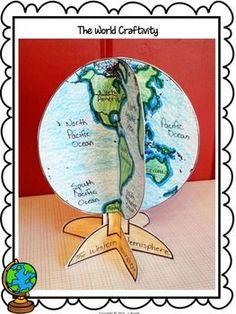 The-World-A-Globe-Craftivity-for-Social-Studies-1450798 Teaching Resources - TeachersPayTeachers.com
