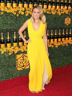 Lauren Conrad looked beautiful in a breezy yellow dress.