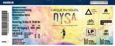 Cirque du Solei Nysa Berlin, Cirque Du Soleil, Longing For You, Gift Cards
