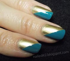 Never Gonna Give You Up: Laid-Back 31DC - Gold nails with Essie Good As Gold and Butter London Artful Dodger