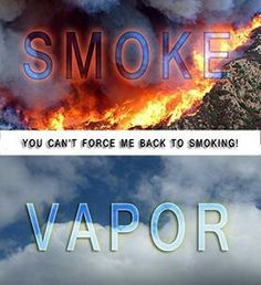 Smoke is produced from burning 600 ingredients in tobacco at 800-1000 °C . Vapor is produced from evaporating 4 ingreadients in a liquid at 160-170°C