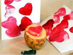Potato Stamping Kartoffel Stempel Kinderkram Geschenke Lilien Vatertag Basteln Mit Kindern