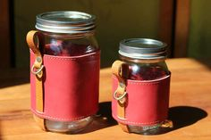 The Chug-a-Lug Leather Cosy Will Turn Your Jar into a Portable Cup https://www.facebook.com/freyja.thayer