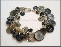 Button jewellery. Button bracelet by FolbarBeads on Etsy, £10.00 https://www.etsy.com/uk/listing/123915237/button-bracelet?ref=v1_other_1