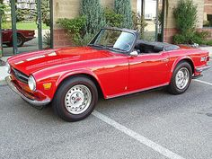 1973 Triumph TR6 - Neighbour had one of these.  Teenage Lust for a convertible !!