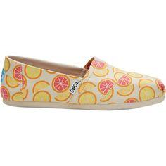 Toms Women's Orange Citrus Espadrille ($30) ❤ liked on Polyvore featuring shoes, sandals, nocolor, toms footwear, espadrilles shoes, orange espadrilles, canvas sandals and canvas espadrilles