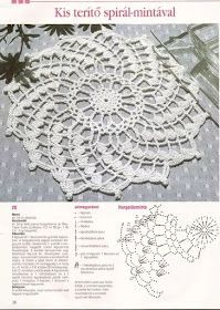 Napperon au crochet en spiral Plus Art Au Crochet, Crochet Diy, Crochet Doily Patterns, Crochet Chart, Thread Crochet, Crochet Designs, Crochet Dollies, Crochet Flowers, Crochet Dreamcatcher