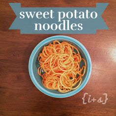 Sweet Potato Noodle Recipe great for 21 Day Fix and Paleo