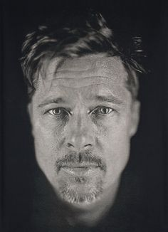 Chuck Close - Brad Pitt portrait *FYI Chuck Close is on exhibit at the Oklahoma City Museum of Art! 1/11/2014