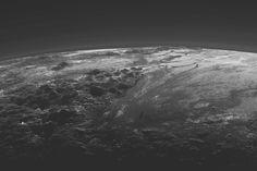 best photos of space pluto mountain range