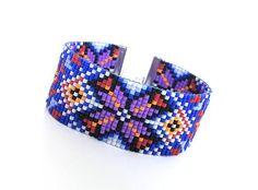 Gift for her/loom bracelet/ethnic bracelet/geometric