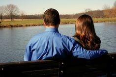 pareja en el parque