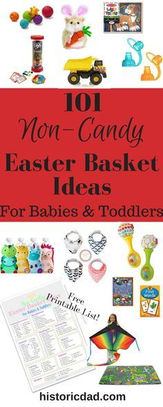Easter baskets and flowers use the code and get your discount 101 non candy easter basket ideas for babies and toddlers negle Images