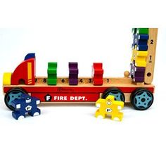 Bloomby Count, Stack and Measure Fire Engine Set