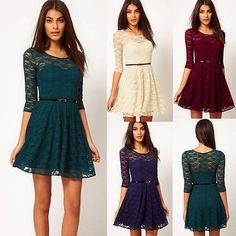 Vintage SEXY Damen Spitze Abendkleid Cocktail Partykleid Sommerkleid Minikleider in Kleidung & Accessoires, Damenmode, Kleider | eBay!