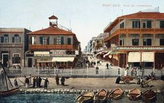 Port Said, Egypt; The commercial street
