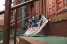 Here is a closer look at the Ronnie Fieg edition Intrepid from the Diadora 's Rio to Seoul collection. Here is how Team Fieg . Best Sneakers, Sneakers Fashion, Fashion Shoes, Diadora Sneakers, Sneaker Games, Reebok, Air Jordans, Kicks, Footwear