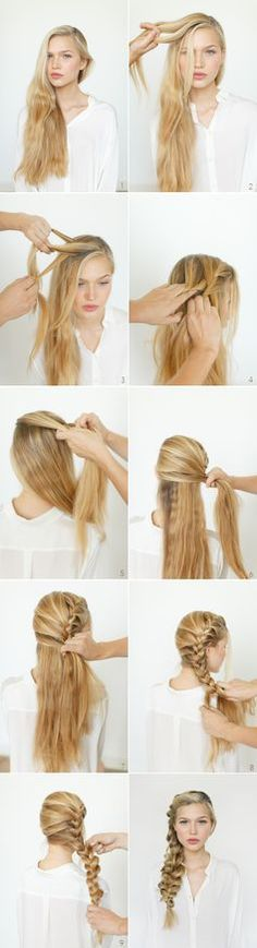 Long-haired ladies: learn how to achieve the perfect side-braid. #braid #hairstyle
