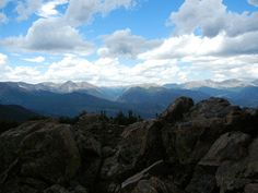View from the summit of Estes Cone in Rocky Mountain National Park.