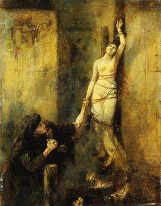 Albert von Keller (1844-1920) - Etude pour Hexenverbrennung, 1888
