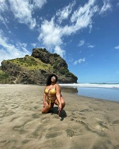 We've seen plenty of bold, flashy swimsuits so far this season, from Kim Kardashian's risky maillot to Bella Hadid's burning-hot cutout one-piece, but no one Cut Out Swimsuits, Beach Poses, You Can Do Anything, Beach Pictures, You Are Beautiful, Play Hard, Picture Poses, Tours, Photoshoot