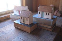 Irish cottage bud vase miniature house structure white by 2of2