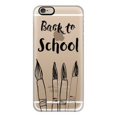 BACK TO SCHOOL in black - Crystal Clear Phone Case - iPhone 6s... (€36) ❤ liked on Polyvore featuring accessories, tech accessories, phone cases, phone, cases, iphone cases, slim iphone case, apple iphone case, clear iphone case and iphone cover case