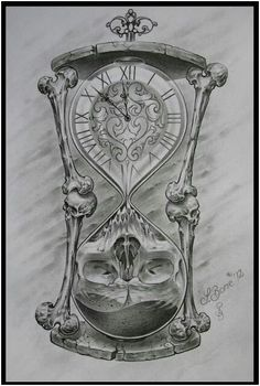 Drawn hourglass black and white - pin to your gallery. Explore what was found for the drawn hourglass black and white Tattoo Design Drawings, Skull Tattoo Design, Skull Tattoos, Tattoo Sketches, Body Art Tattoos, Tattoo Designs, Hour Glass Tattoo Design, Tatuajes Tattoos, Kunst Tattoos