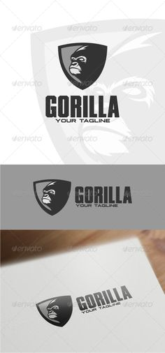 Gorilla Logo Template #graphicriver