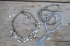 Parisian Rain necklace, Silver Lotus earrings and Silver Om mala from www.globalgroovelife.com #fairtrade #fairtradefashion #fashionfriday
